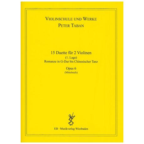 Taban, P.: Op. 6: 15 Duette für 2 Violinen Band 2