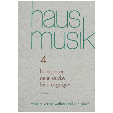 Poser, H.: 9 Stücke