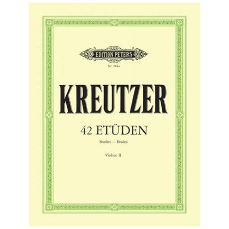 Kreutzer, R.: 42 Etüden oder Capricen – Begleitstimme (Hermann)