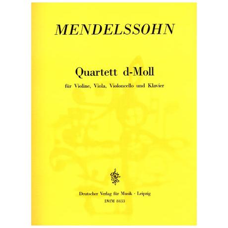 Mendelssohn Bartholdy, F.: Klavierquartett d-Moll