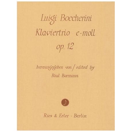 Boccherini, L.: Klaviertrio e-moll Op.12