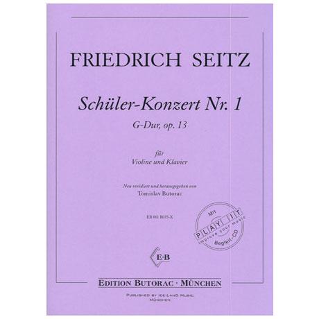 Seitz, F.: Schülerkonzert Nr. 1 Op. 13 G-Dur (+CD)