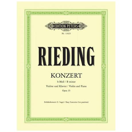 Rieding, O.: Konzert Op. 35 h-Moll