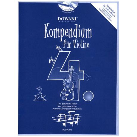 Kompendium für Violine - Band 4 (+CD)