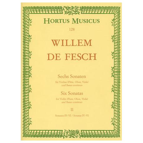 Fesch, W. d.: Sechs Sonaten - Band 2