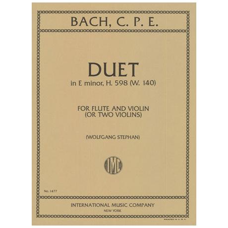 Bach, C. Ph. E.: Duett Wq. 140 H. 598 e-Moll