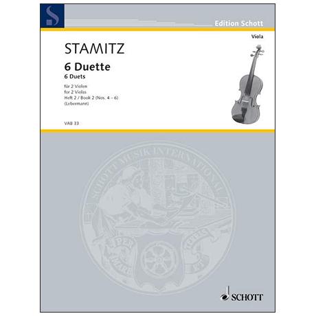 Stamitz, C.: 6 Duette Band 2 (Nr.4-6)