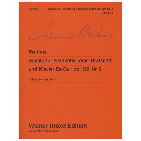 Brahms, J.: Sonate Es-Dur, op. 120/2