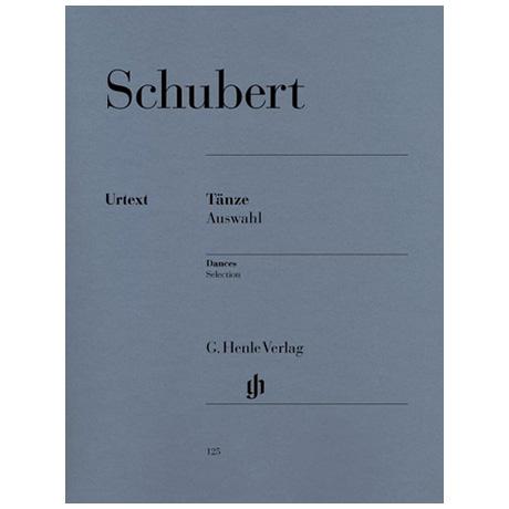 Schubert, F.: Tänze, Auswahl