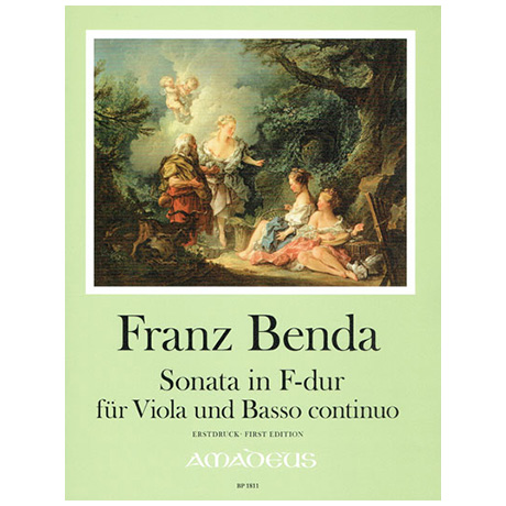 Benda, F.: Violasonate F-Dur