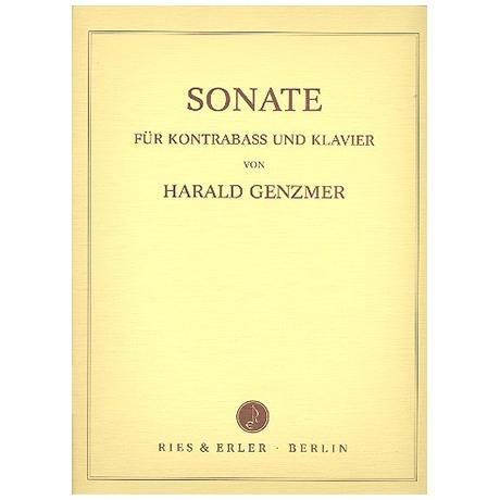 Genzmer, H.: Kontrabasssonate