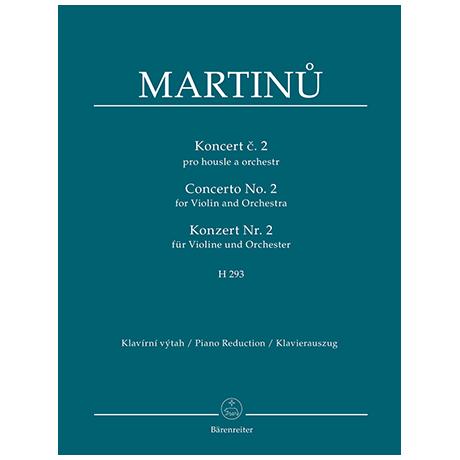 Martinů, B.: Violinkonzert Nr. 2 H 293
