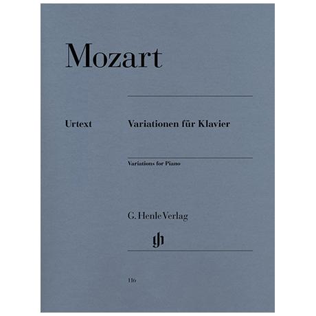 Mozart, W. A.: Variationen für Klavier