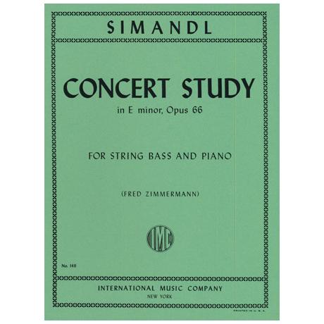 Simandl, Franz: Concert Study in E minor, Op. 66