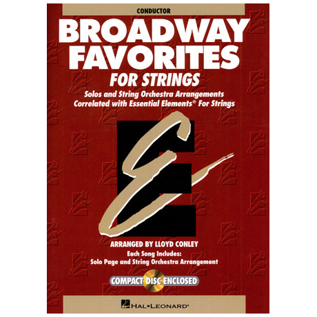 Broadway Favorites for Strings (+CD)