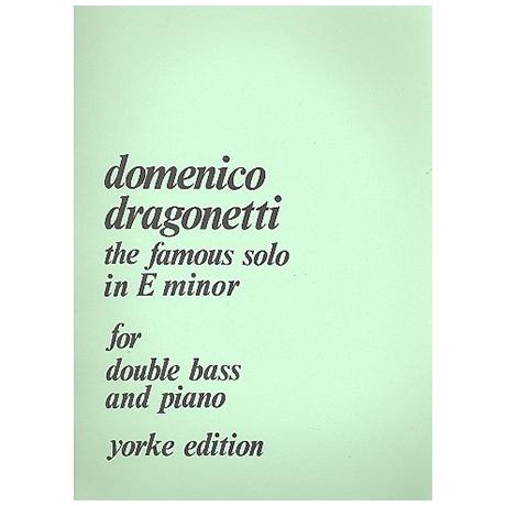 Dragonetti, D.: Berühmtes Solo e-Moll