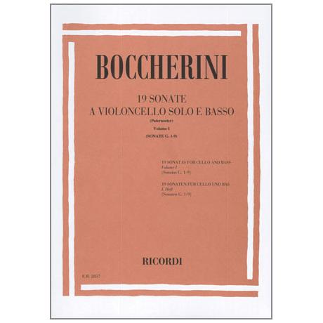 Boccherini, L.: 19 Sonaten Band 1 (Nr.1-9)
