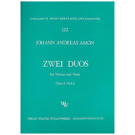 Amon, J. A.: 2 Duos Op. 2 Nr. 1-2