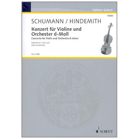 Schumann / Hindemith: Konzert für Violine und Orchester (1937)