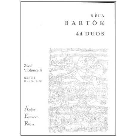 Bartok, B.: 44 Duos für 2 Violinen, Bd. 1 (Duo 1-30)