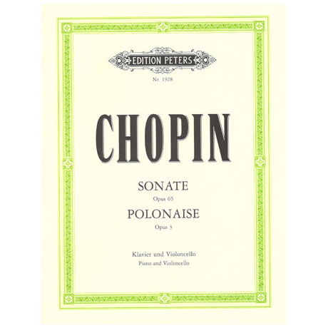 Chopin, F.: Sonate Op.65 und Polonaise brillante Op.3