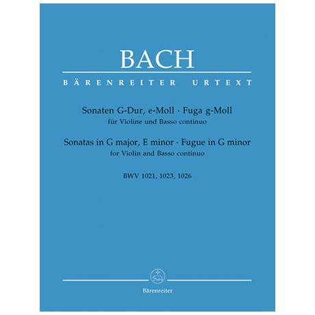 Bach, J.S.: Sonaten G-Dur, e-Moll, Fuge g-Moll
