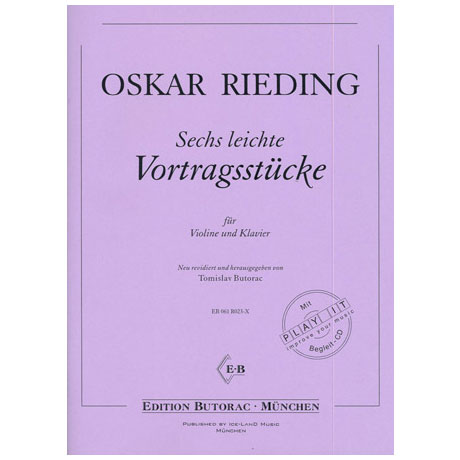 Rieding, O.: 6 leichte Vortragsstücke (+CD)