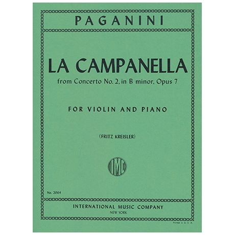 Paganini, N.: La Campanella Op. 7 (Kreisler)