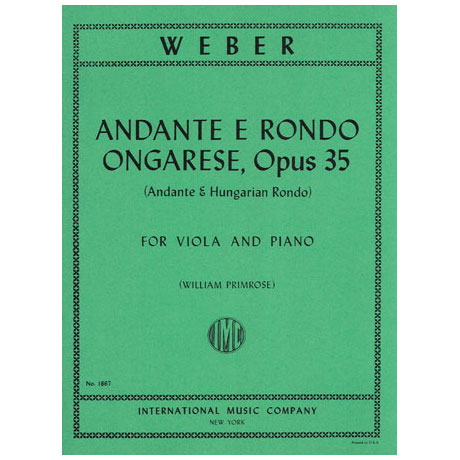 Weber, C.M.v.: Andante & Rondo Ungharese op. 35