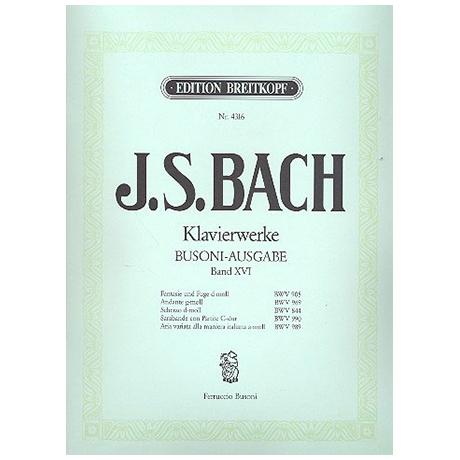 Bach, J.S.: Fantasie, Andante, Scherzo, Sarabande, Aria