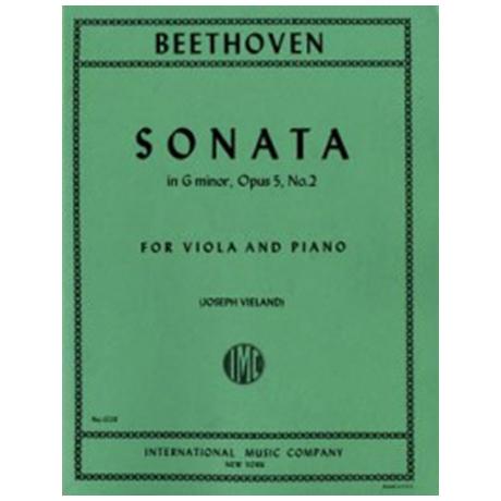 Beethoven, L.v.: Cellosonate g-moll op. 5 Nr. 2