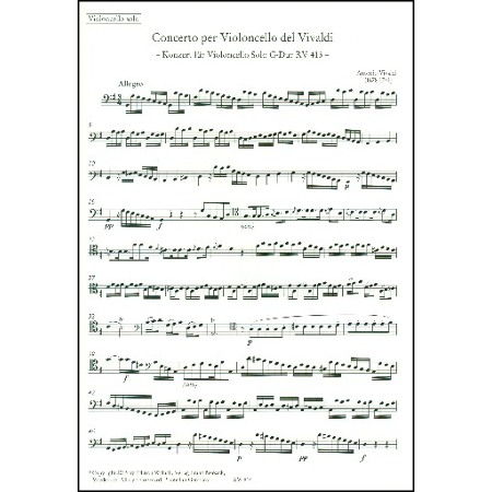 Vivaldi, A.: Konzert Nr. 16 RV 413 G-Dur