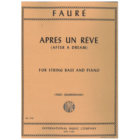Faure, G.: Apres un reve op.7 Nr.1