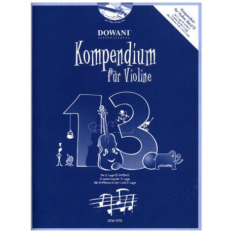 Kompendium für Violine - Band 13 (+ 2 CD's)