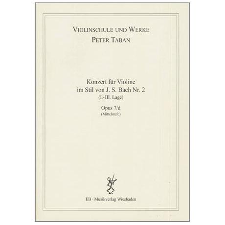 Taban, P.: Op. 7/d: Konzert im Stil von J.S. Bach Nr. 2