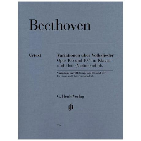 Beethoven, L. v.: Variationen über ein Volkslied Op. 105 und 107