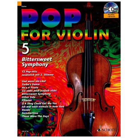 Pop for Violin Vol.5 (+CD)