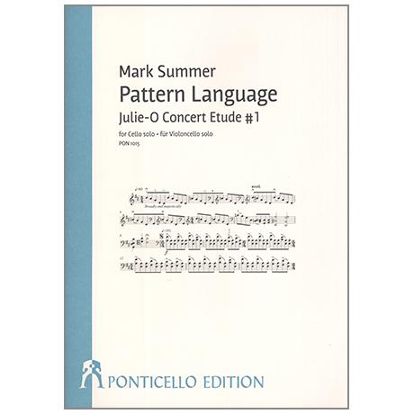 Summer, M.: Pattern Language – Julie-O Concert Etude No.1
