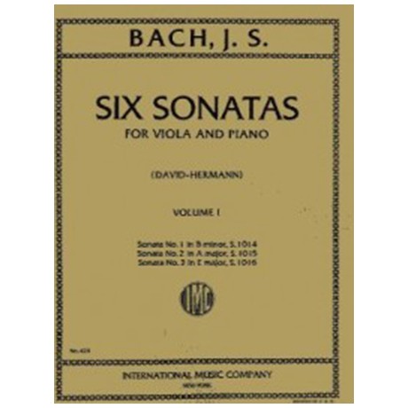Bach, J.S.: 6 Violinsonaten Band 1 (1-3)