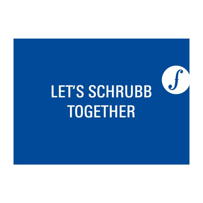 Postkarte LET´S SCHRUBB TOGETHER