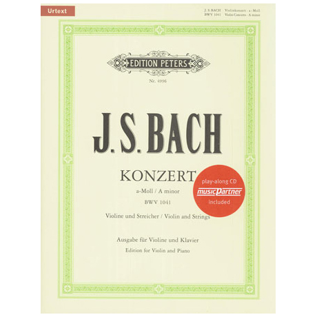 Bach, J.S.: Violinkonzert Nr. 1 a-moll, BWV 1041 Urtext (+CD)