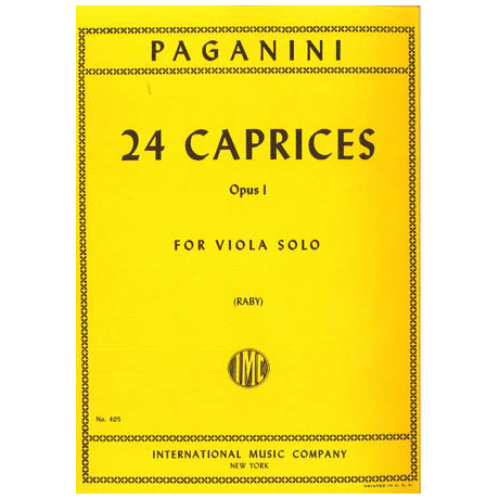 Paganini, N.: 24 Caprices op. 1