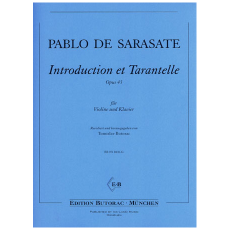 Sarasate, P.d.: Introduction et Tarantelle op. 43