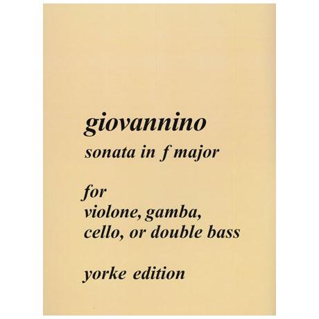 Giovannino, L. L.: Kontrabasssonate F-Dur »del Violone«