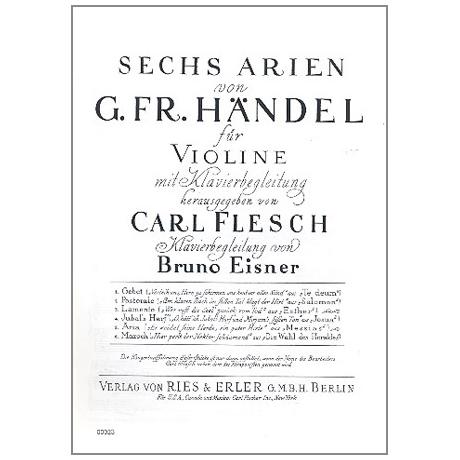 Händel, G.F.: 6 Arien Band 4: Jubals Harf