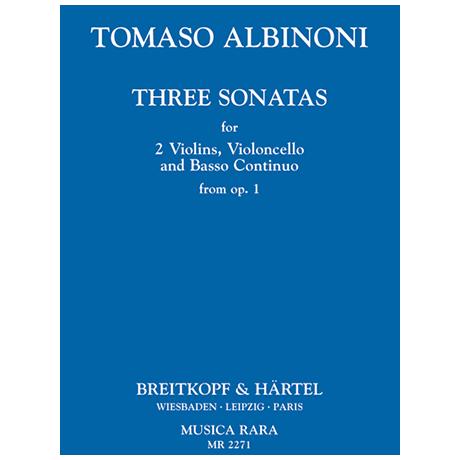 Albinoni, T.: Sonate a tre Op. 1 Band 1 (Nr. 1-3)