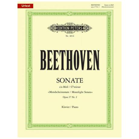 Beethoven, L. v.: Sonate cis-Moll Op. 27,2 (Mondscheinsonate)