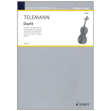 Telemann, G.P.: Duett A-Dur, aus »Der getreue Musikmeister«
