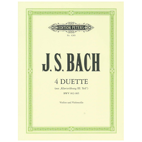 Bach, J.S.: 4 Duette BWV 802-805