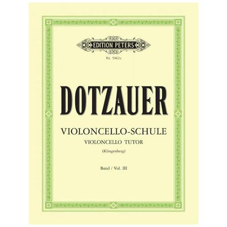 Dotzauer, F.: Violoncelloschule Band 3